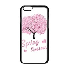 Spring Blossom  Apple Iphone 6/6s Black Enamel Case by Valentinaart
