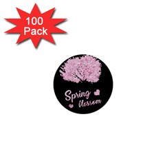 Spring Blossom  1  Mini Buttons (100 Pack)  by Valentinaart