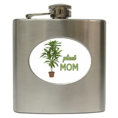 Plant Mom Hip Flask (6 Oz) by Valentinaart