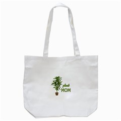 Plant Mom Tote Bag (white) by Valentinaart