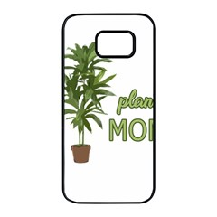 Plant Mom Samsung Galaxy S7 Edge Black Seamless Case by Valentinaart