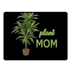 Plant Mom Fleece Blanket (small) by Valentinaart