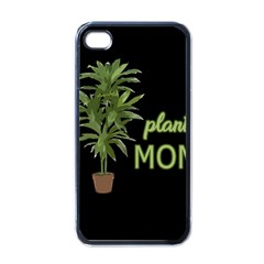 Plant Mom Apple Iphone 4 Case (black) by Valentinaart