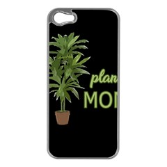 Plant Mom Apple Iphone 5 Case (silver)