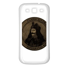 Count Vlad Dracula Samsung Galaxy S3 Back Case (white) by Valentinaart
