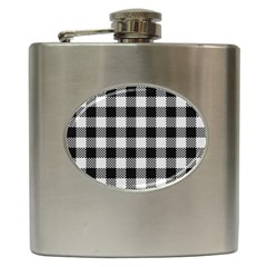Plaid Pattern Hip Flask (6 Oz) by ValentinaDesign