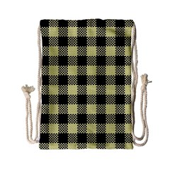 Plaid Pattern Drawstring Bag (small) by ValentinaDesign