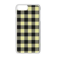 Plaid Pattern Apple Iphone 7 Plus White Seamless Case by ValentinaDesign