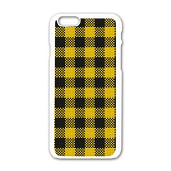 Plaid Pattern Apple Iphone 6/6s White Enamel Case by ValentinaDesign