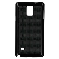 Plaid Pattern Samsung Galaxy Note 4 Case (black)
