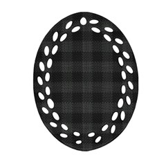 Plaid Pattern Ornament (oval Filigree) by ValentinaDesign