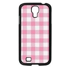 Plaid Pattern Samsung Galaxy S4 I9500/ I9505 Case (black) by ValentinaDesign