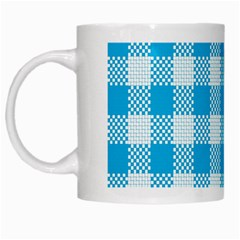 Plaid Pattern White Mugs by ValentinaDesign
