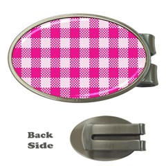 Plaid Pattern Money Clips (oval)  by ValentinaDesign