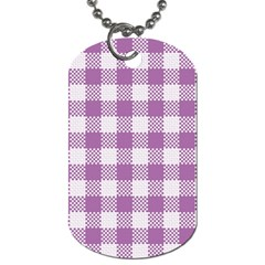 Plaid Pattern Dog Tag (one Side) by ValentinaDesign