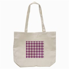 Plaid Pattern Tote Bag (cream) by ValentinaDesign