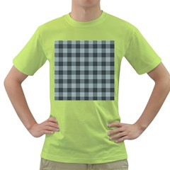 Plaid Pattern Green T Shirt by ValentinaDesign