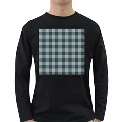 Plaid Pattern Long Sleeve Dark T Shirts