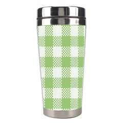Plaid Pattern Stainless Steel Travel Tumblers by ValentinaDesign