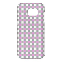Plaid Pattern Samsung Galaxy S7 Edge Hardshell Case by ValentinaDesign