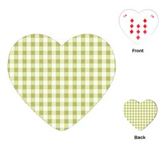Plaid Pattern Playing Cards (heart)  by ValentinaDesign