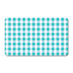 Plaid Pattern Magnet (rectangular) by ValentinaDesign