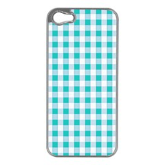 Plaid Pattern Apple Iphone 5 Case (silver) by ValentinaDesign