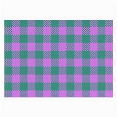 Plaid Pattern Large Glasses Cloth