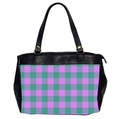 Plaid Pattern Office Handbags (2 Sides)  by ValentinaDesign