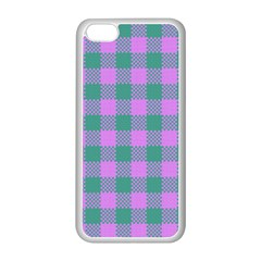 Plaid Pattern Apple Iphone 5c Seamless Case (white) by ValentinaDesign