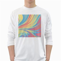 Colors White Long Sleeve T Shirts by ValentinaDesign