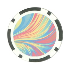 Colors Poker Chip Card Guard (10 Pack) by ValentinaDesign