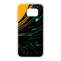 Colors Samsung Galaxy S7 Edge White Seamless Case by ValentinaDesign