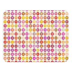 Multicolored Floral Pattern Double Sided Flano Blanket (large)  by linceazul