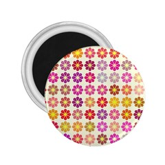 Multicolored Floral Pattern 2 25  Magnets by linceazul