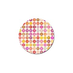 Multicolored Floral Pattern Golf Ball Marker by linceazul