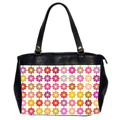 Multicolored Floral Pattern Office Handbags (2 Sides)  by linceazul