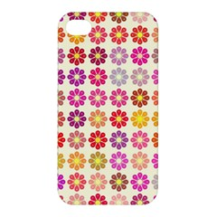 Multicolored Floral Pattern Apple Iphone 4/4s Hardshell Case by linceazul