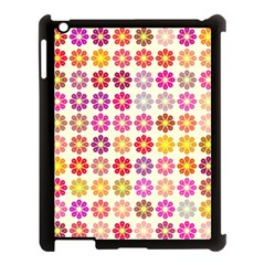 Multicolored Floral Pattern Apple Ipad 3/4 Case (black) by linceazul