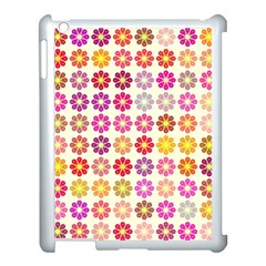 Multicolored Floral Pattern Apple Ipad 3/4 Case (white) by linceazul
