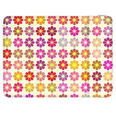 Multicolored Floral Pattern Samsung Galaxy Tab 7  P1000 Flip Case by linceazul