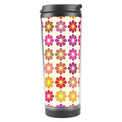 Multicolored Floral Pattern Travel Tumbler by linceazul