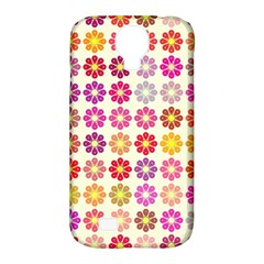 Multicolored Floral Pattern Samsung Galaxy S4 Classic Hardshell Case (pc+silicone) by linceazul