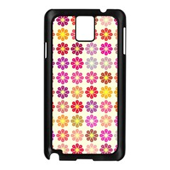 Multicolored Floral Pattern Samsung Galaxy Note 3 N9005 Case (black) by linceazul