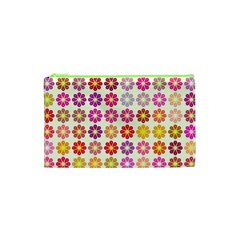 Multicolored Floral Pattern Cosmetic Bag (xs) by linceazul