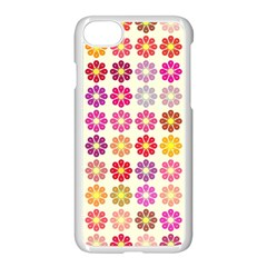 Multicolored Floral Pattern Apple Iphone 7 Seamless Case (white) by linceazul