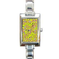 Bubble Fun 17d Rectangle Italian Charm Watch by MoreColorsinLife