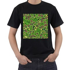 Bubble Fun 17c Men s T Shirt (black) (two Sided)