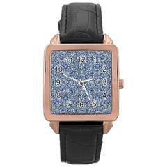 Geometric Luxury Ornate Rose Gold Leather Watch  by dflcprints