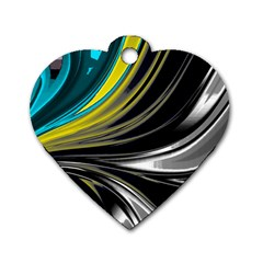 Colors Dog Tag Heart (two Sides)